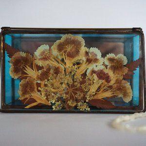 Vintage Storage & Organization - Vintage Stained Glass and Copper Trinket Box